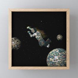 Spacewalk Dream #3 Framed Mini Art Print