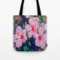 hibiscus Tote Bags featuring Hibiscus by Morgan Ralston