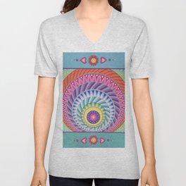 Colour Explosion Mandala Unisex V-Neck