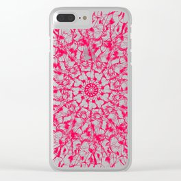 Red Star Mandala Clear iPhone Case