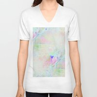 cracked V-neck T-shirts featuring cracked rainbow by Hoeroine