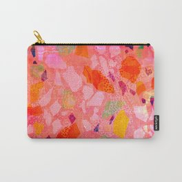 Sea Glass Abstract Pattern in Pink Carry-All Pouch