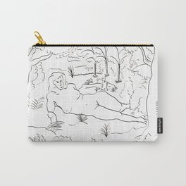 Naked in the Woods Carry-All Pouch