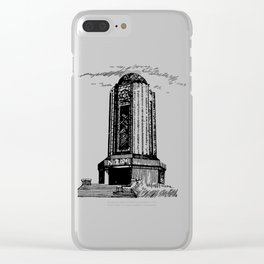 Old Mausoleum Ink Art Clear iPhone Case
