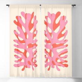 Sea Leaf: Matisse Collage Peach Edition Blackout Curtain