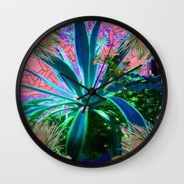 PEACOCK NATURE CORAL-BLUE GARDEN ART Wall Clock