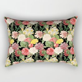 Vintage Floral Pattern | No. 1A Rectangular Pillow