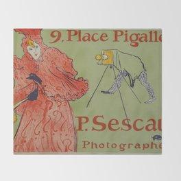 """Henri de Toulouse-Lautrec """"Place Pigalle"""" Throw Blanket"""
