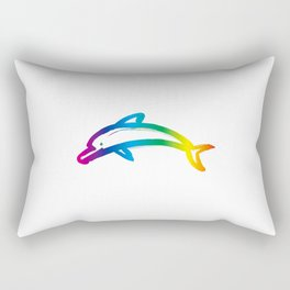Rainbow Dolphin_A Rectangular Pillow