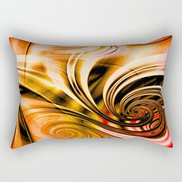 Curls Deluxe Orange Rectangular Pillow