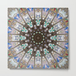 Glass Cathedral Medieval Builders Seven Metal Print