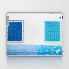 Two Blue Shuttered Windows Laptop & iPad Skin