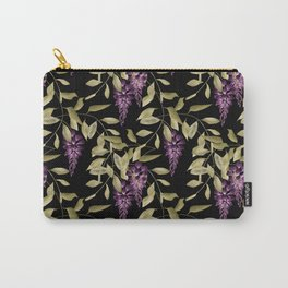 The Branches Of Wisteria . Black . Carry-All Pouch