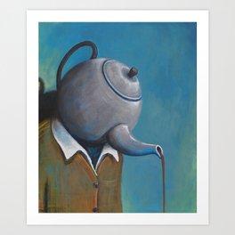 Constant Dribble (tea pot) Art Print