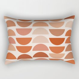 Shapes in Auburn and Terracotta 108 Rectangular Pillow