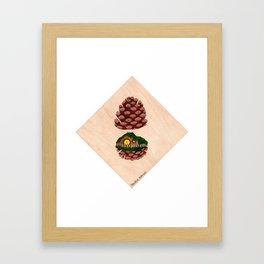 Home Sweet Pinecone Framed Art Print