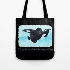 A Prayer for the Orca ~ Watercolor Tote Bag