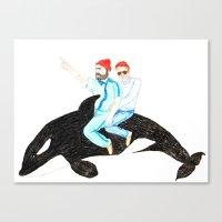 life aquatic Canvas Prints featuring Life Aquatic by cristina zavala