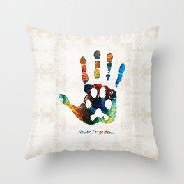 Rainbow Bridge Art - Never Forgotten - By Sharon Cummings Throw Pillow