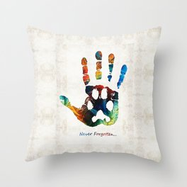 Rainbow Bridge Art - Never Forgotten - By Sharon Cummings Throw Pillow