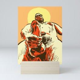 Summer man Mini Art Print