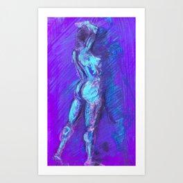 Figure I Blue Flash Art Print