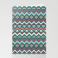 aztec Stationery Cards featuring Aztec. by Priscila Peress
