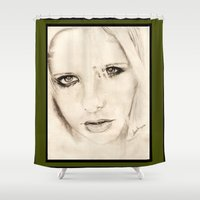 buffy Shower Curtains featuring buffy by als3