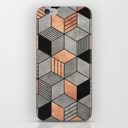 Concrete and Copper Cubes 2 iPhone Skin