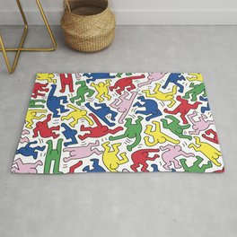 Dance Doodles homage to Keith Haring Rug