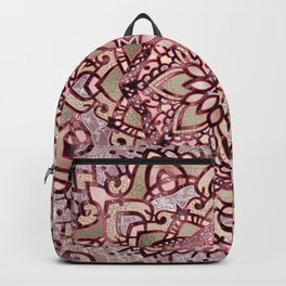 Burgundy plum mandala Backpack