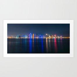 Doha skyscrapers Art Print
