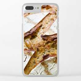 Fresh bread with crust Clear iPhone Case