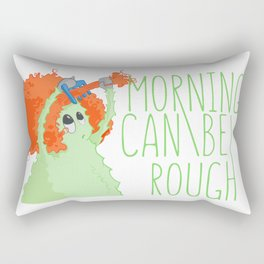 Urban monster Mornings can be rough Rectangular Pillow