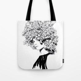 Fashion portrait illustration haute couture Valentino inspired design Tote Bag