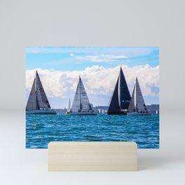 Yachting on Sydney Harbour. Sydney. Australia. Mini Art Print