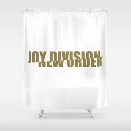 80s music / band logo art / JD/NO Shower Curtain