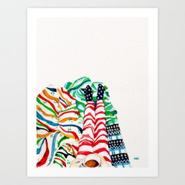 Wrapped up & Warm Tea Art Print