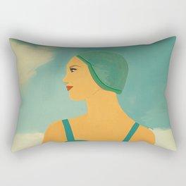 Mid-Century Bathing Beauty Rectangular Pillow