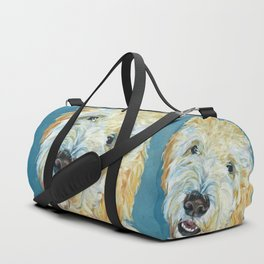 Stanley the Goldendoodle Dog Portrait Duffle Bag