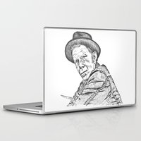 tom waits Laptop & iPad Skins featuring Tom Waits Sketch in Black by JennFolds5 * Jennifer Delamar-Goss