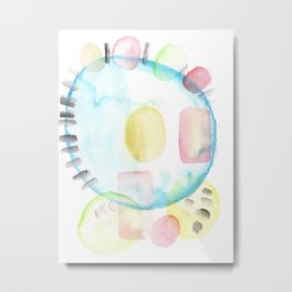 170404 Steady Pacing 10 |Modern Watercolor Art | Abstract Watercolors Metal Print