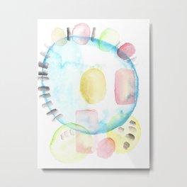 170404 Steady Pacing 10 |Modern Watercolor Art | Abstract Watercolors Metal Print
