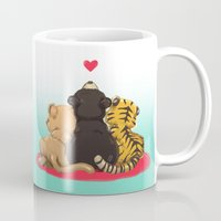 best friends Mugs featuring Best Friends by Patara