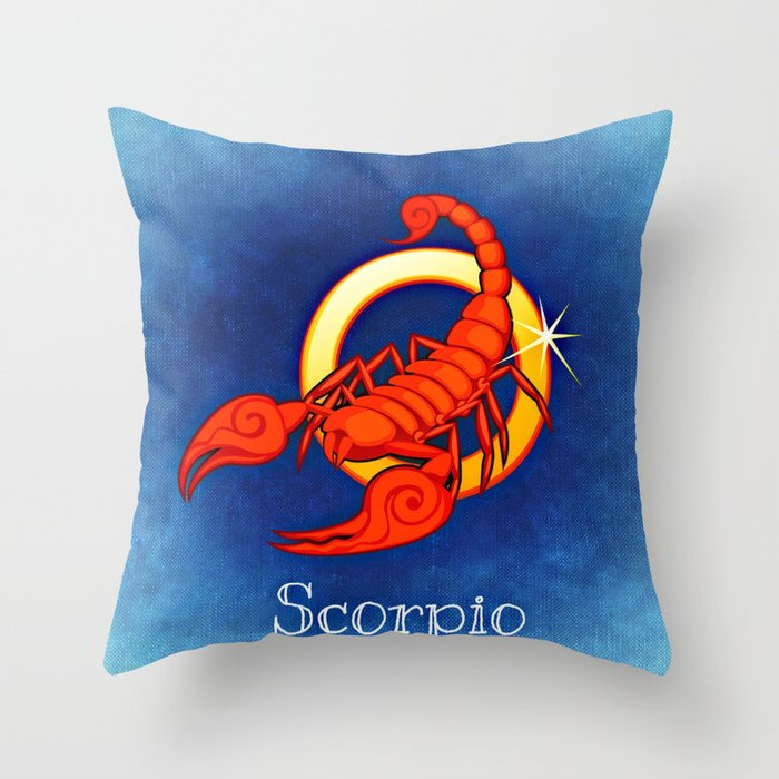 Zodiac_Sign_Scorpio Throw Pillow