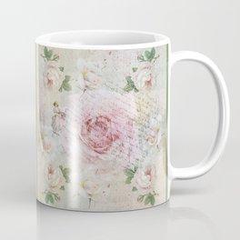 Romantic vintage roses and French handwriting Coffee Mug