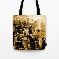 chicago Tote Bags featuring Chicago by DM Davis