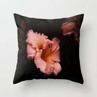 lily Throw Pillows featuring Lily by Christine Belanger