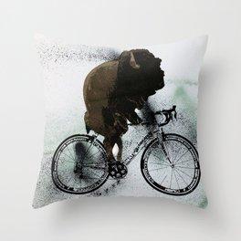BUFF RIDER Throw Pillow
