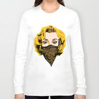 gangster Long Sleeve T-shirts featuring Gangster Lady by UrbanCandy